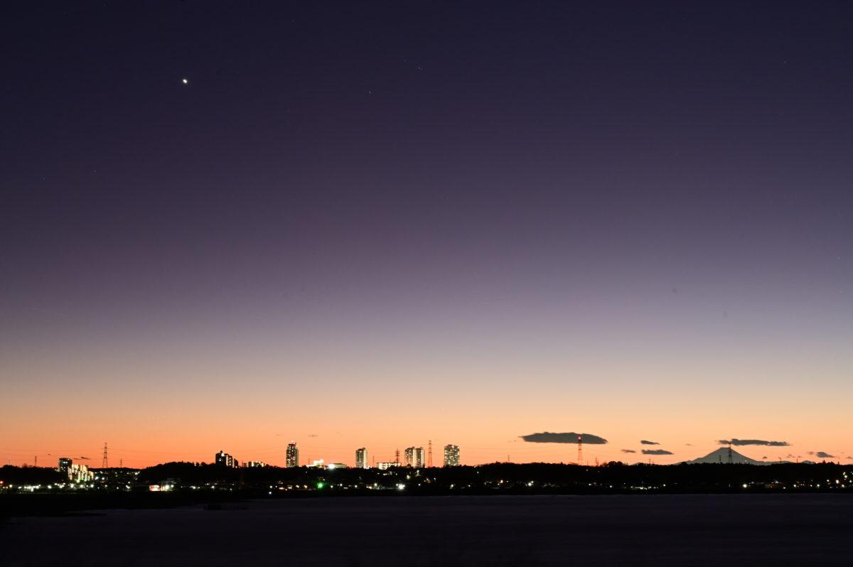 印旛沼サンセットヒルズからトワイライト3